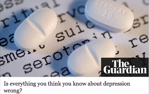 Article on depression, in the Guardian, Johann Hari